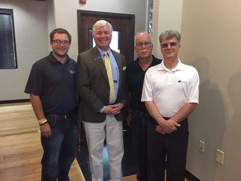 Managing Partner, Josh Burton; BBB Regional VP, Jim Furbush; Managing Partner, Kevin Burton, BBB Board Member, Ron Young